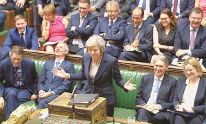MAY IN HOUSE OF COMMONS